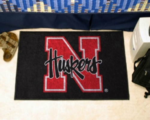 Nebraska Cornhuskers Rug - Starter Style - Special Order