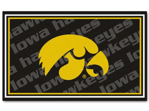Iowa Hawkeyes Area rug - 4'x6' - Special Order