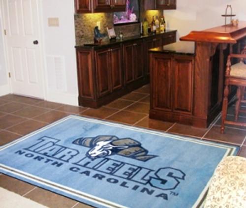 North Carolina Tar Heels Area rug - 4'x6' - Special Order