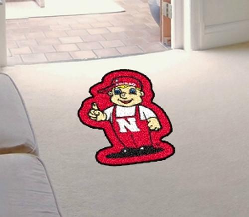Nebraska Cornhuskers Area Rug - Mascot Style - Special Order