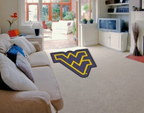 West Virginia Mountaineers Area Rug - Mascot Style - Special Order