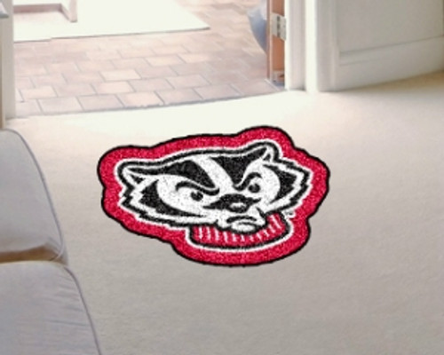 Wisconsin Badgers Area Rug - Mascot Style - Special Order