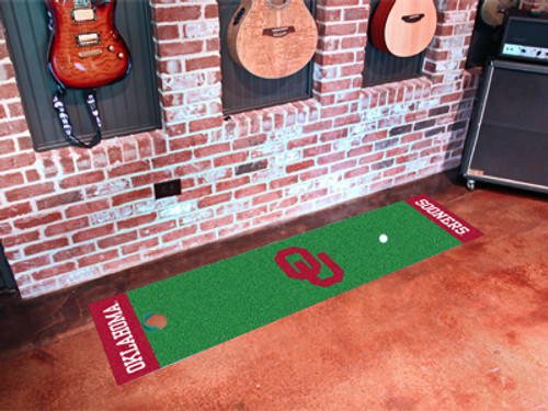 Oklahoma Sooners Putting Green Mat - Special Order