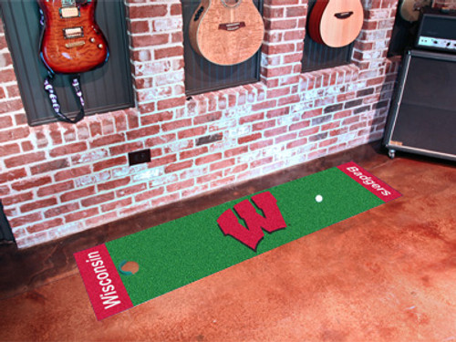 Wisconsin Badgers Putting Green Mat - Special Order