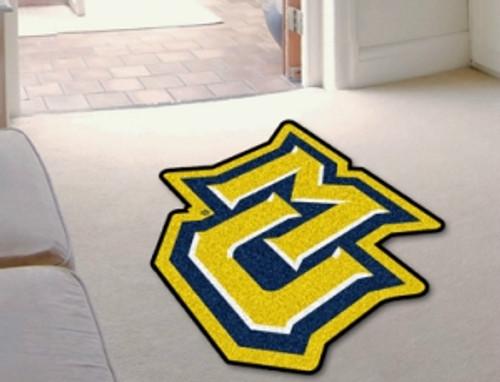 Marquette Golden Eagles Area Rug - Mascot Style, 'MU' Design - Special Order