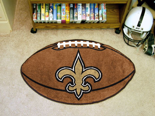 New Orleans Saints Football Mat 22x35 - Special Order