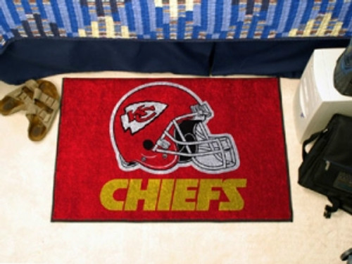 Kansas City Chiefs Rug - Starter Style, Helmet Design - Special Order