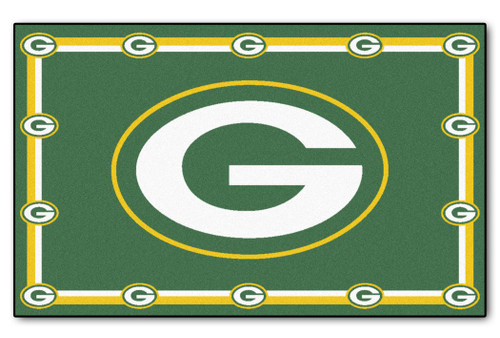 Green Bay Packers Area Rug - 5'x8' - Special Order
