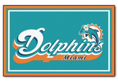 Miami Dolphins Area Rug - 4'x6' - Special Order