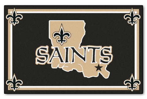New Orleans Saints Area Rug - 4'x6' - Special Order