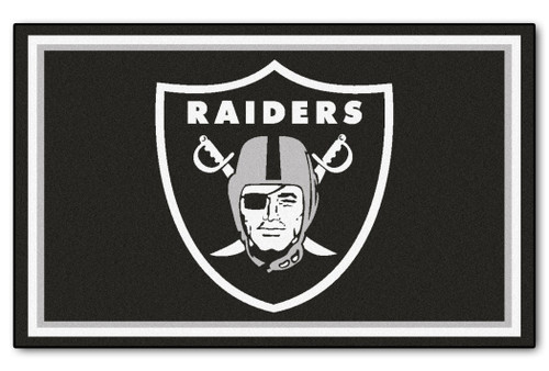 Las Vegas Raiders Area Rug - 4'x6' - Special Order