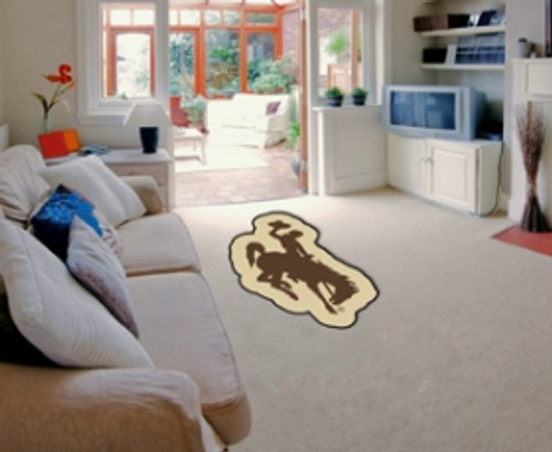 Wyoming Cowboys Area Rug - Mascot Style - Special Order