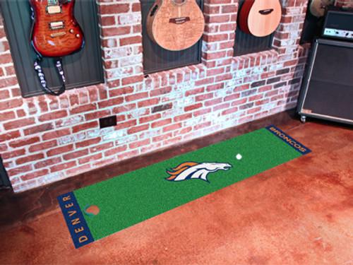 Denver Broncos Putting Green Mat - Special Order