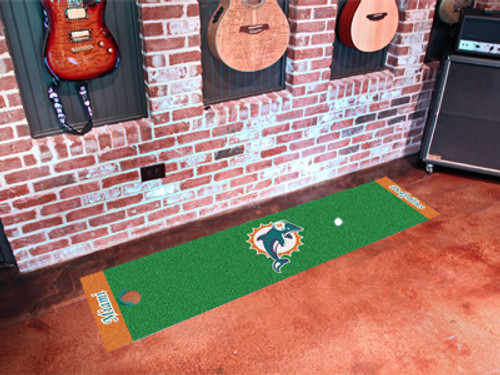 Miami Dolphins Putting Green Mat - Special Order