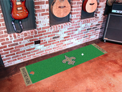 New Orleans Saints Putting Green Mat - Special Order