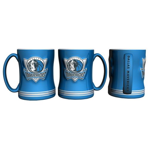 Dallas Mavericks Coffee Mug 14oz Sculpted Relief