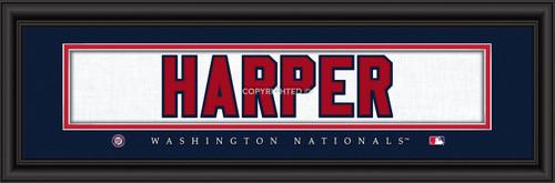 "Washington Nationals Bryce Harper Print - Signature 8""x24"""