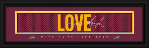 "Cleveland Cavaliers Kevin Love Print - Signature 8""x24"""