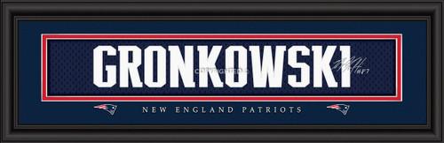 "New England Patriots Rob Gronkowski Print - Signature 8""x24"""