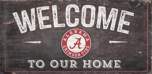 Alabama Crimson Tide Sign Wood 6x12 Welcome To Our Home Design - Special Order