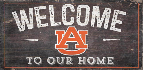 Auburn Tigers Sign Wood 6x12 Welcome To Our Home Design - Special Order
