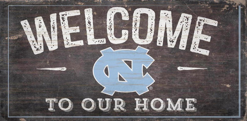 North Carolina Tar Heels Sign Wood 6x12 Welcome To Our Home Design - Special Order