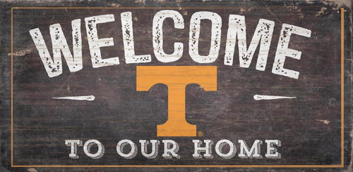 Tennessee Volunteers Sign Wood 6x12 Welcome To Our Home Design - Special Order