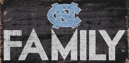 North Carolina Tar Heels Sign Wood 12x6 Family Design - Special Order