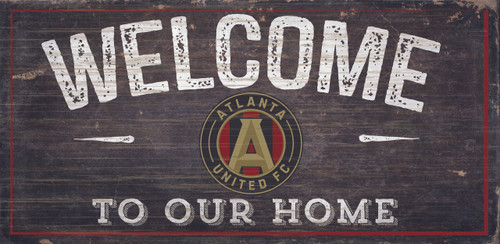Atlanta United FC Sign Wood 6x12 Welcome To Our Home Design - Special Order