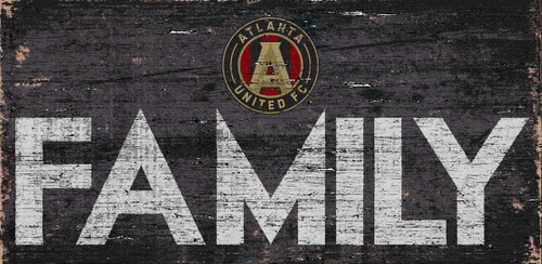 Atlanta United FC Sign Wood 12x6 Family Design - Special Order