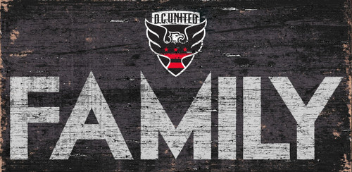 DC United Sign Wood 12x6 Family Design - Special Order