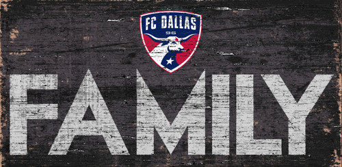 FC Dallas Sign Wood 12x6 Family Design - Special Order