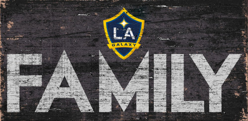 LA Galaxy Sign Wood 12x6 Family Design - Special Order
