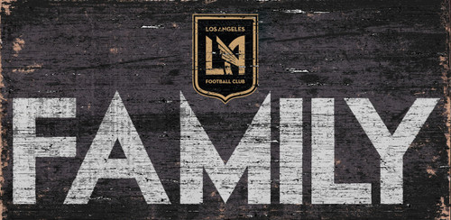 Los Angeles FC Sign Wood 12x6 Family Design - Special Order