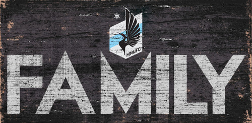 Minnesota United FC Sign Wood 12x6 Family Design - Special Order