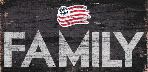 New England Revolution Sign Wood 12x6 Family Design - Special Order
