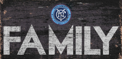 New York City FC Sign Wood 12x6 Family Design - Special Order