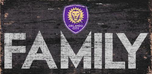 Orlando City SC Sign Wood 12x6 Family Design - Special Order