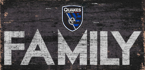 San Jose Earthquakes Sign Wood 12x6 Family Design - Special Order