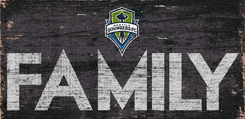 Seattle Sounders Sign Wood 12x6 Family Design - Special Order