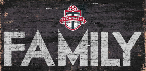 Toronto FC Sign Wood 12x6 Family Design - Special Order