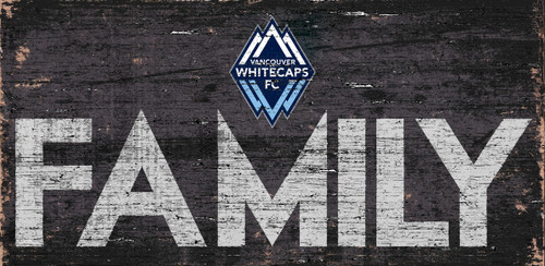 Vancouver Whitecaps Sign Wood 12x6 Family Design - Special Order