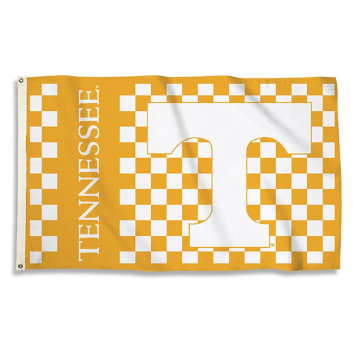 Tennessee Volunteers Flag 3x5 Checkered Design - Special Order
