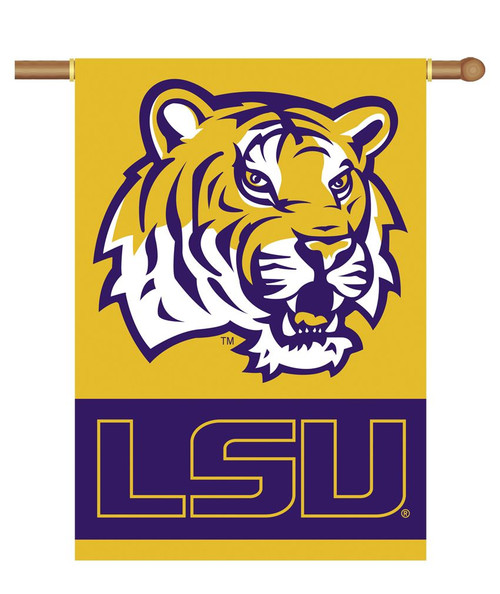 LSU Tigers Banner 28x40 2 Sided Tiger Head - Special Order