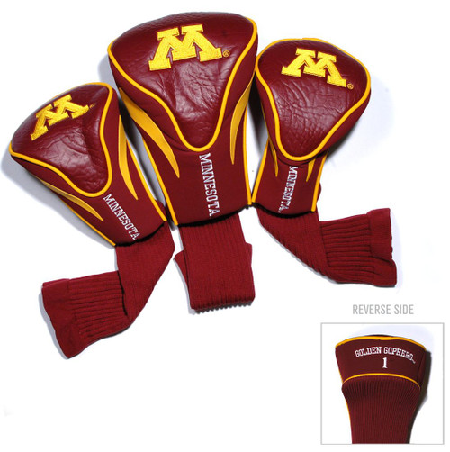 Minnesota Golden Gophers Golf Club 3 Piece Contour Headcover Set - Special Order