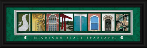 Michigan State Spartans Letter Art Print - Spartans