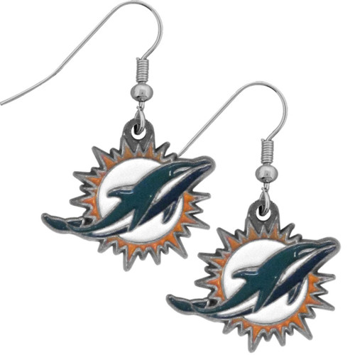 Miami Dolphins Dangle Earrings - Special Order