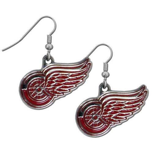 Detroit Red Wings Dangle Earrings - Special Order