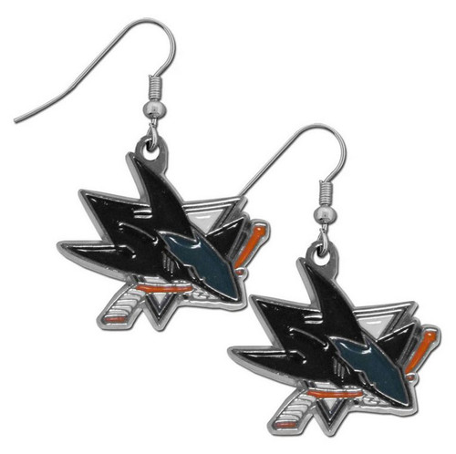 San Jose Sharks Dangle Earrings - Special Order