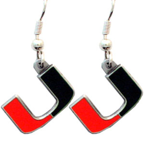 Miami Hurricanes Dangle Earrings - Special Order